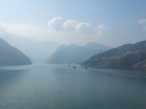 Eastern entrance to Wu gorge on the Yangtse waterway