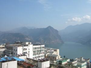 The peaks around Wu Gorge on the Yangtse waterway