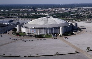 Huge sports stadium in Houston Texas
